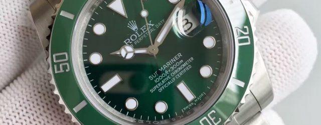 Noob Factory Replica Rolex V7 116610LV Submariner Green Hulk Stainless Steel Watch
