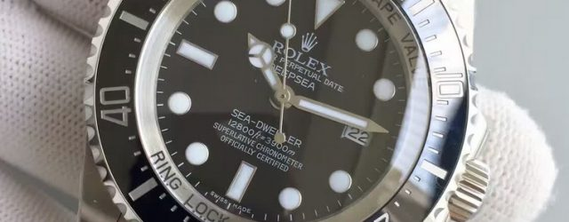 Noob Factory Replica Rolex V7 116660 Deepsea Black Watch