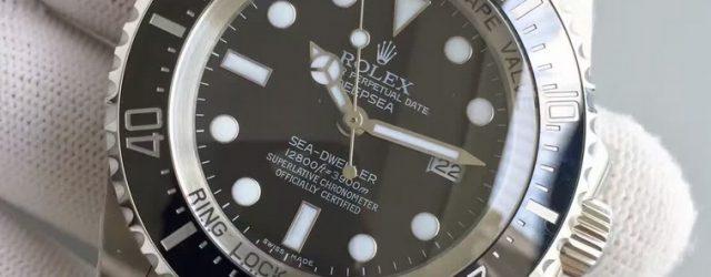 Noob Factory Replica Rolex V7 116660 Deepsea Black Watch