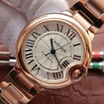 Noob Factory Replica Cartier Ballon Bleu 33mm Rose Gold Ladies Watch,1: 1 Replica Cartier