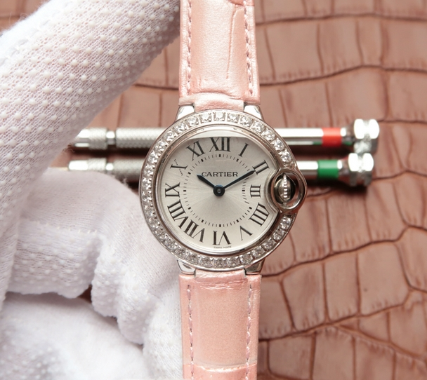 Noob Factory Replica Cartier Ballon Bleu Diamonds Ladies Watch Review
