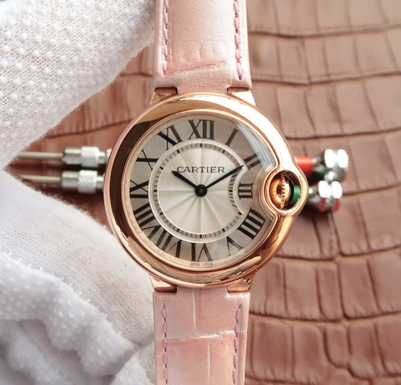 Noob Factory Replica Cartier Ballon Bleu Ladies Rose Gold Watch W6920084
