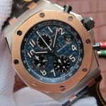Noob Factory Replica Audemars Piguet Royal Oak Offshore Two Tone Blue Dial 26471SR.OO.D101CR.01