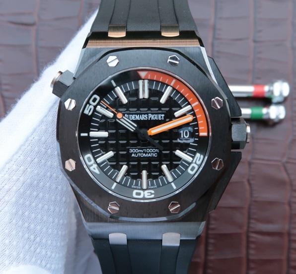 Noob Factory Replica Audemars Piguet Royal Oak Offshore Diver Black Ceramic Watch