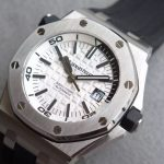 Noob Factory Replica Audemars Piguet Royal Oak Offshore Diver 15710 White Dial V8 Edition
