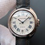Noob Factory Replica Cartier Cle de Cartier 40mm White Gold Men's Watch WGCL0005