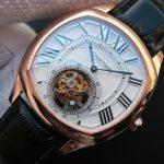 Noob Factory Replica Cartier Drive de Cartier Tourbillon Rose Gold Watch