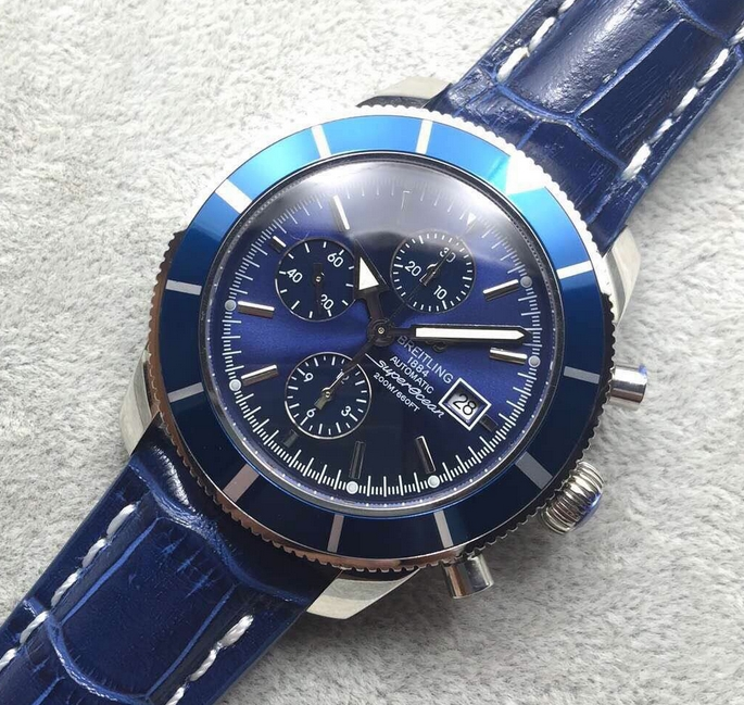 Noob Factory Replica Breitling Superocean Heritage 46 Blue Chronograph Review