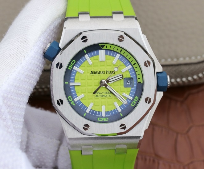 Noob Factory Replica Audemars Piguet Royal Oak Offshore Diver 2017,Green Edition