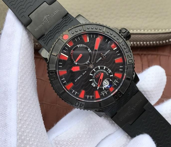 Noob Factory Replica Ulysse Nardin Maxi Marine Diver Black Sea 263-92 Review