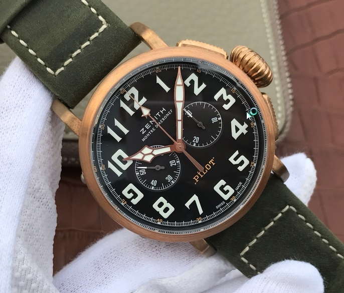 Noob Factory Replica Zenith Pilot Type 20 Extra Bronze Chronograph Review