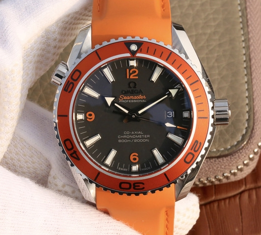 Noob Factory Replica Omega Seamaster Planet Ocean Orange Watch Review
