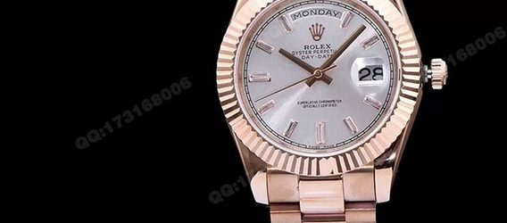 Noob Factory Replica Rolex Day-Date 40 Rose Gold 228235