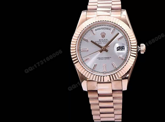 Noob Factory Replica Rolex Day-Date 40 Rose Gold 228235