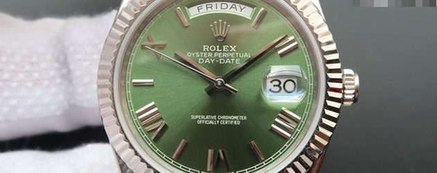 Noob Factory Replica Rolex Day-Date 40 Green Dial 228239