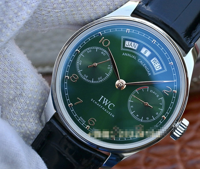 Noob Factory Replica IWC Portugieser Annual Calendar Green Review