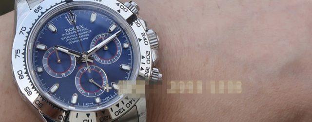 Noob Factory Replica Rolex Cosmograph Daytona 40 Blue 116509 Review