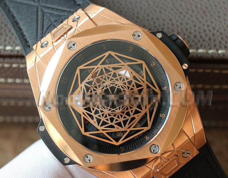 Noob Factory Replica Hublot Big Bang Sang Blue King Gold Review